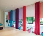 Více barevná závěs a barevná roleta