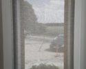 Průhledná roleta pohled z interiéru ven