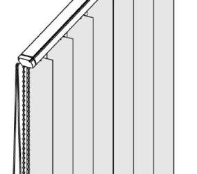 Vertikální žaluzie - šikmina