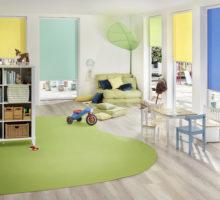 Barevná roleta Erfal v mateřské školce