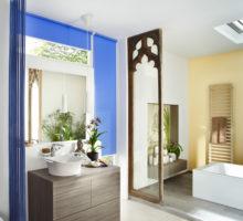 modrá roleta Erfal koupelna