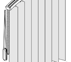 Vertikální žaluzie - vertikální oblouk