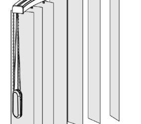 Vertikální žaluzie - horizontální oblouk