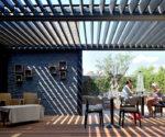 Pergola u domu - dvojtá zesílená střecha