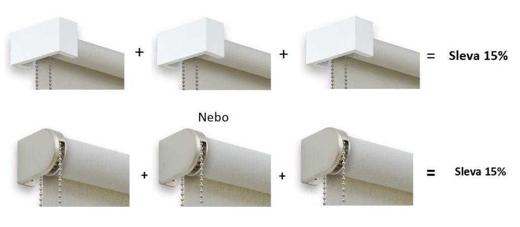 Akce na designové látkové rolety