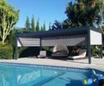 hliníková pergola samostatně stojící u bazénu