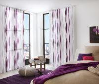 japonská stěna se vzorem fialová a bílá barva