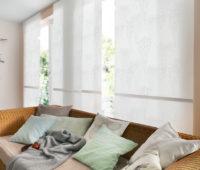 detail japonské stěny v moderním obývacím pokoji