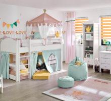 roleta den a noc v dětském pokoji