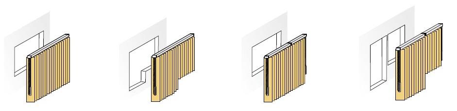 Vertikální žaluzie klasické provedení