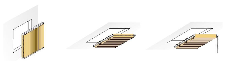 Vertikální žaluzie stropní provedení světlíky