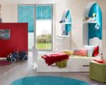 žaluzie plisé v dětském pokoji