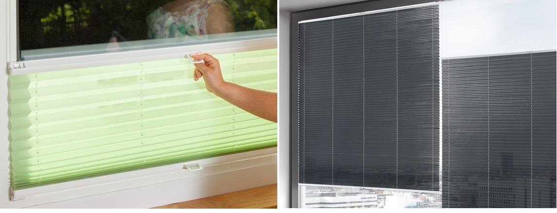 žaluzie plisé na plastových a dřevěných oknech
