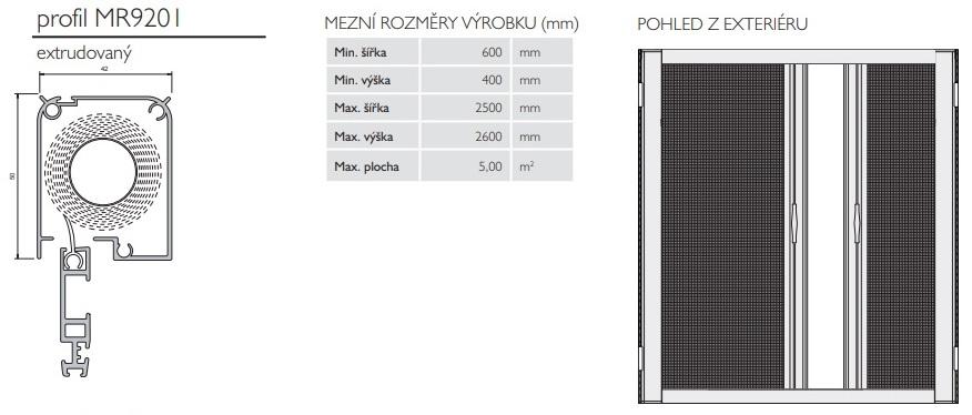 rolovací sítě pro dvoukřídlé dveře