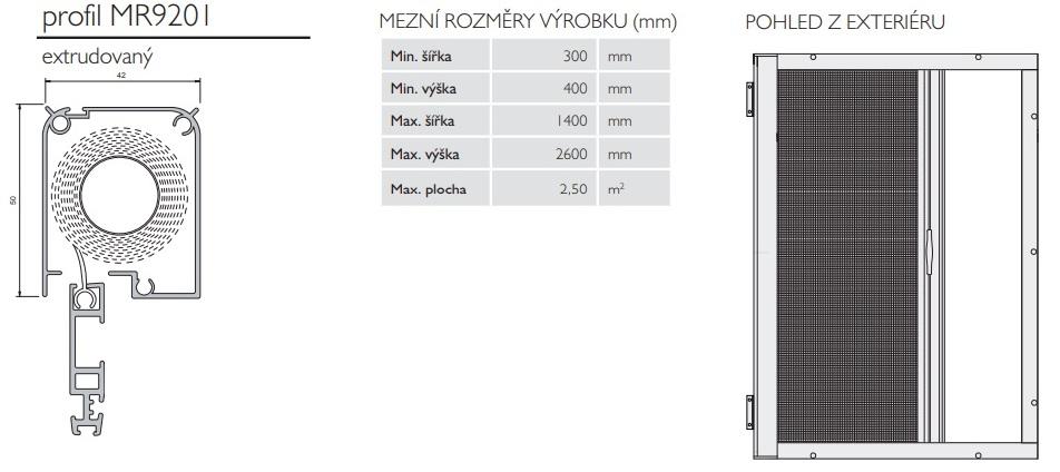 vertikální rolovací síť do dveří proti hmyzu
