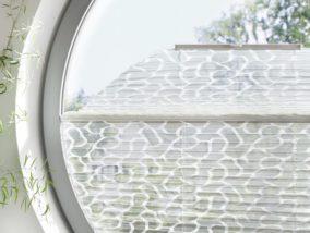 Atypické kulaté okno stínění se žaluzií Plisé