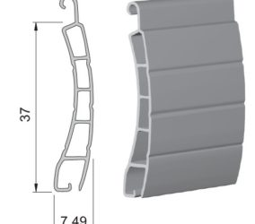 lamela na roletu 37 mm