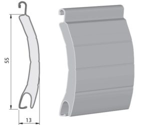 lamela na roletu 55 mm