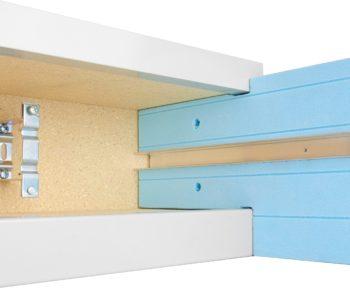 purenitový box pro žaluzie detail
