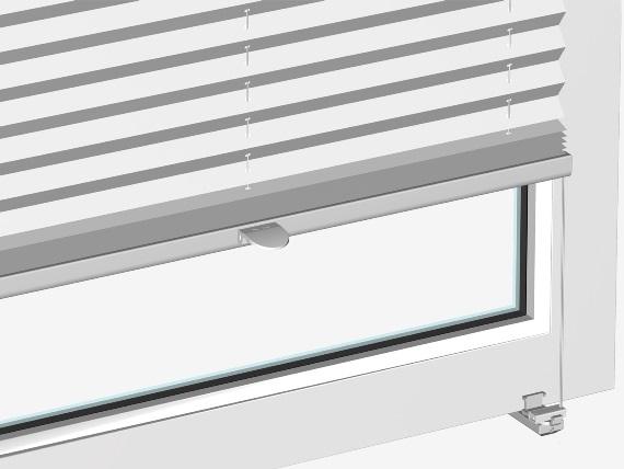 speciální držák na rám okna bez nutnosti vrtaní