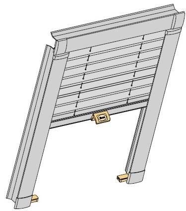 plise pro stresni okna s kotvenim hornim