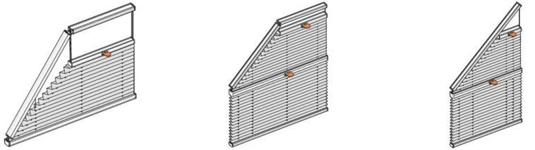 plisé pro atypická okna lichoběžníková