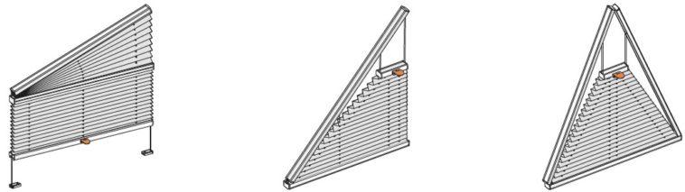 plisé pro atypická okna trojúhelníková