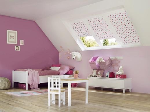 růžové rolety
