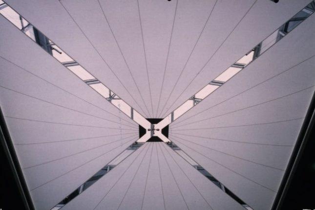 čtyři protitahové rolety - geometrické tvary