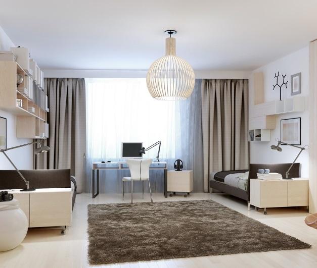 moderní závěsy do obývacího pokoje