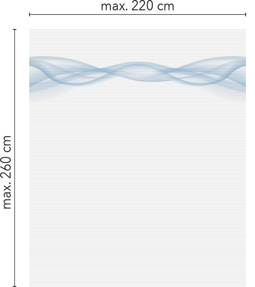 maximální velikost plisé WAVE