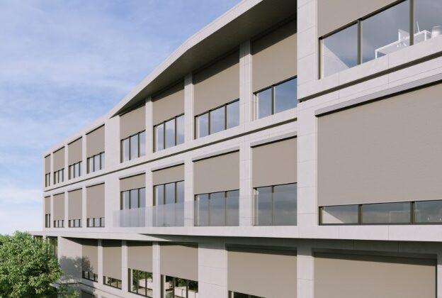okenní a fasádní markýzy zip 2.0 na administrativní budově