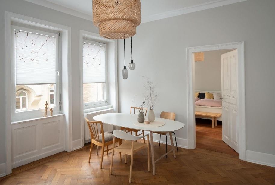 plisé Duette IDA ve skandinávském designu