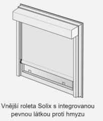 vnější roleta Solix na baterie se sítí proti hmyzu