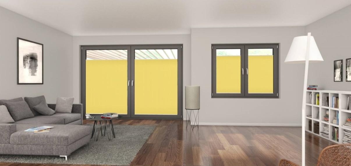 blackout žluté plisé