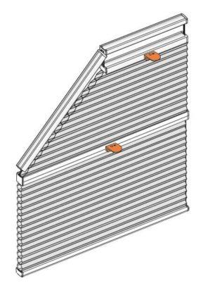 plisé atyp pěti boká okna
