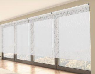 bílá průsvitná interiérová látková roleta R_03