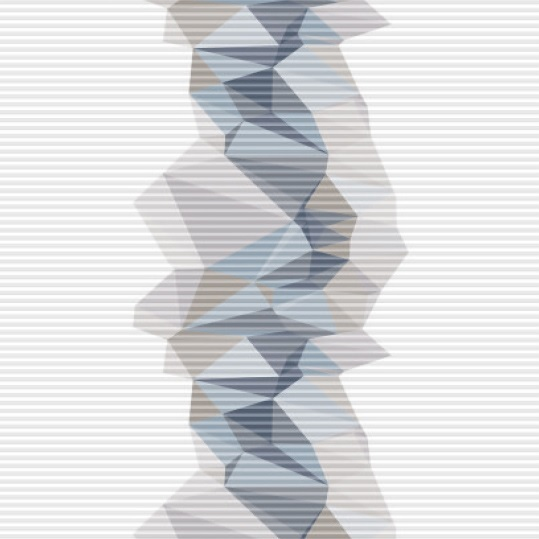 designové plisé FACETTE modrá