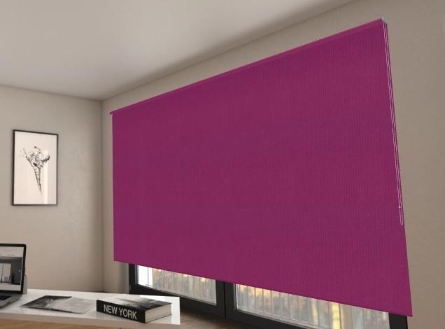zatemňovací fialová látková roleta